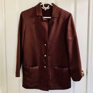 JohnPaulRichard Brown Button Up Blazer Size S